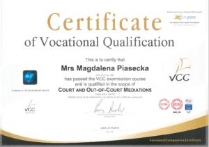Certyfikat vvc Piasecka